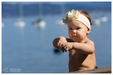 Luize, 1 ano. Book bebê, Florianópolis