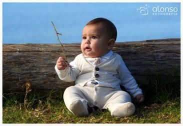 Philip Bernard, 6 meses - Book bebê externo em Florianópolis