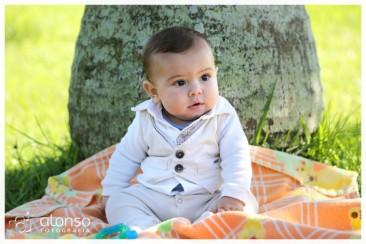 Philip Bernard, 6 meses - Book bebê externo no parque