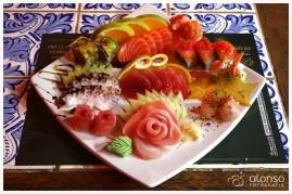 Prato de Sushi. Restaurante Sushi da Mole, Florianópolis