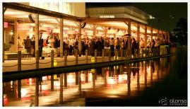 Evento do Hotel na noite. Fotografia de Hotéis.
