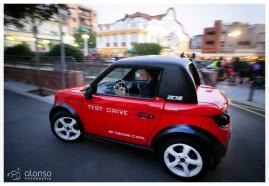 Veículo elétrico Tazzari. Fotografia empreendedores