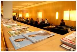 Sala VIP no aeroporto. Fotografia de empresas em Florianópolis