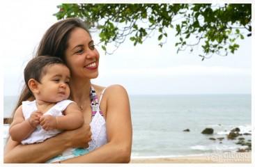 Sarah e Lara na praia. Sessão fotográfica em Florianópolis