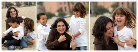Olga, Ines e Naiara. Ensaio fotográfico na praia