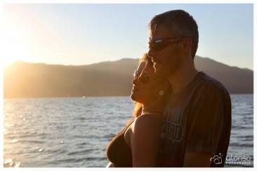 Maria e Angelo. Por do sol em Florianópolis