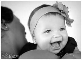 A bebê Maria Alice no  Estúdio fotográfico