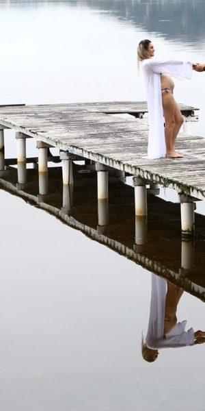 Ensaio gestante no trapiche na Lagoa da Conceição