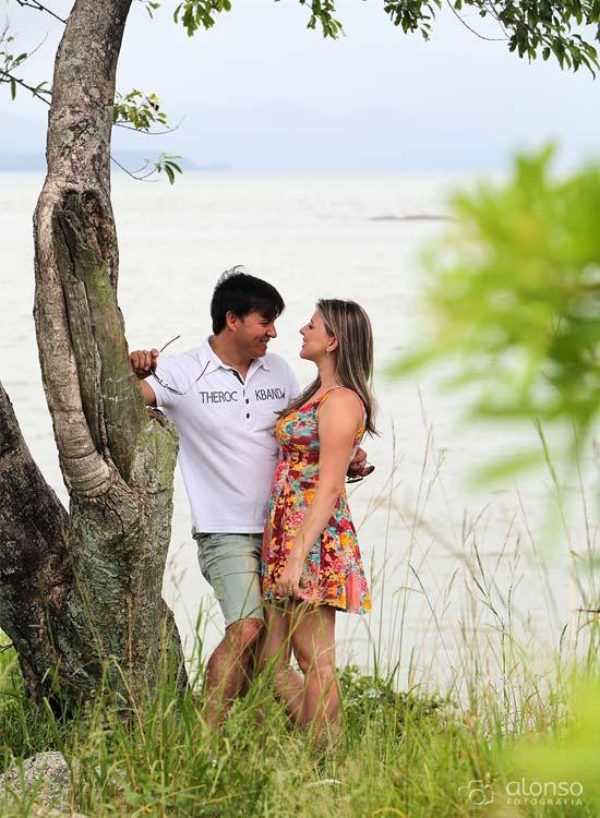 Ensaio casal na praia