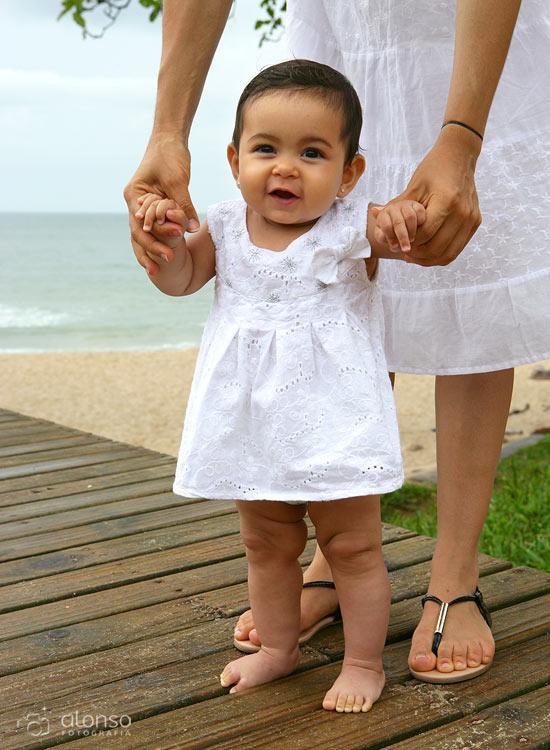 Ensaio de bebê na praia do Campeche
