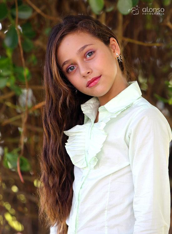 Menina cabelo longo ensaio fotográfico