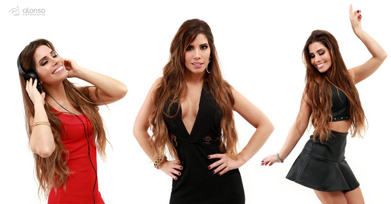 Ensaio em estúdio da cantora sertaneja Luciana Arouca