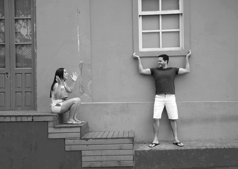 Ensaio casal criativo